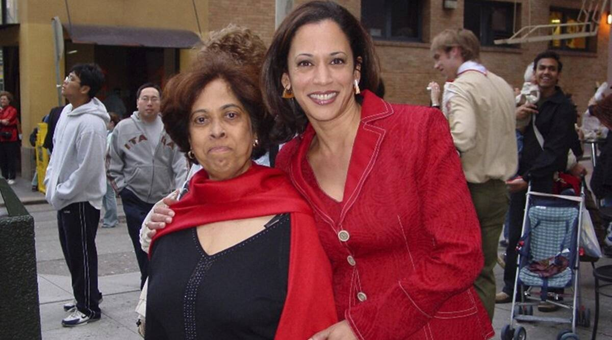 Kamala Harris, Kamala Harris mother, Kamala Harris family, US Vice President Kamala, US news, world news, Indian Express news