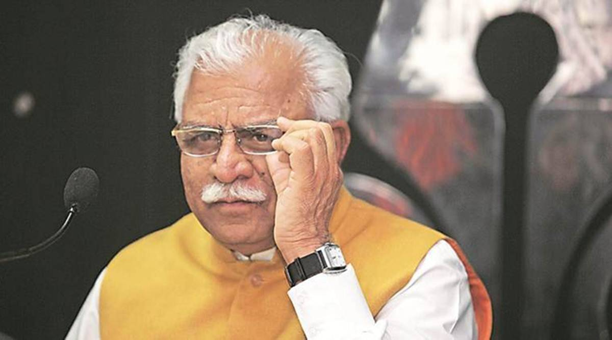 farm protests, farmer protests, farm laws, Manohar lal Khattar, khattar on farm laws, govt farmer talks, sc hearing on farm protests, ml khattar karnal visit, karnal protesters clash, indian express news