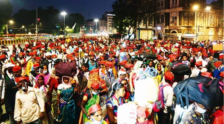 sharad pawar, Mumbai farmers, Mumbai Farmers march, farm bills, farmers protest, indian express news