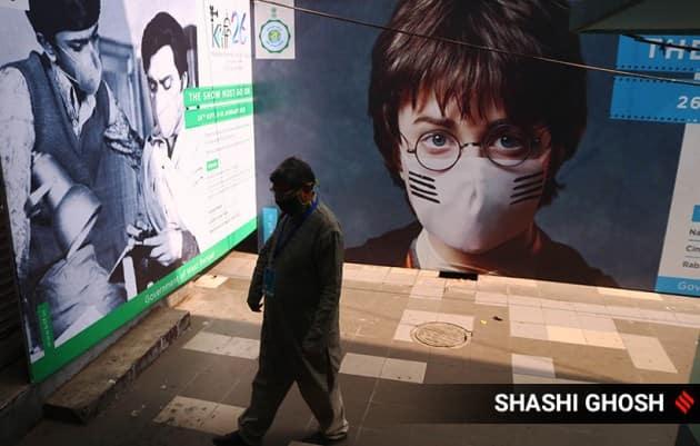 kiff, kolkata film fest, kiff masked posters, kiff, kiff photos, masked calcutta posters, indian express, indian express news