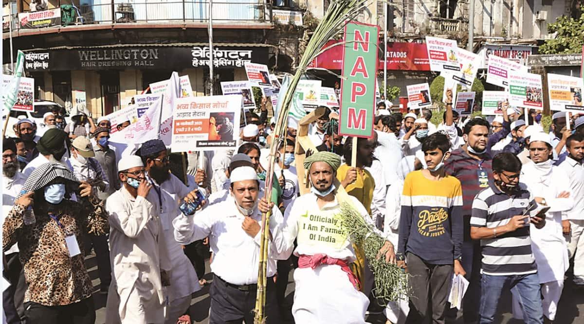 farm bills, farmers protest, mumbai farmers agitation, mumbai farm bills protest, indian express news