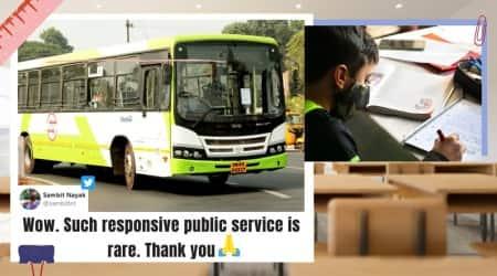 odisha, odisha mo bus, odisha crut bus timing, arun bhotra, odisha bus change timing for student, student complains bus timing changes, good news, viral news, indian express