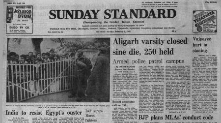 AMU Strike, Aligarh Muslim University, AMU students protest, Forty Years Ago, Indian express news