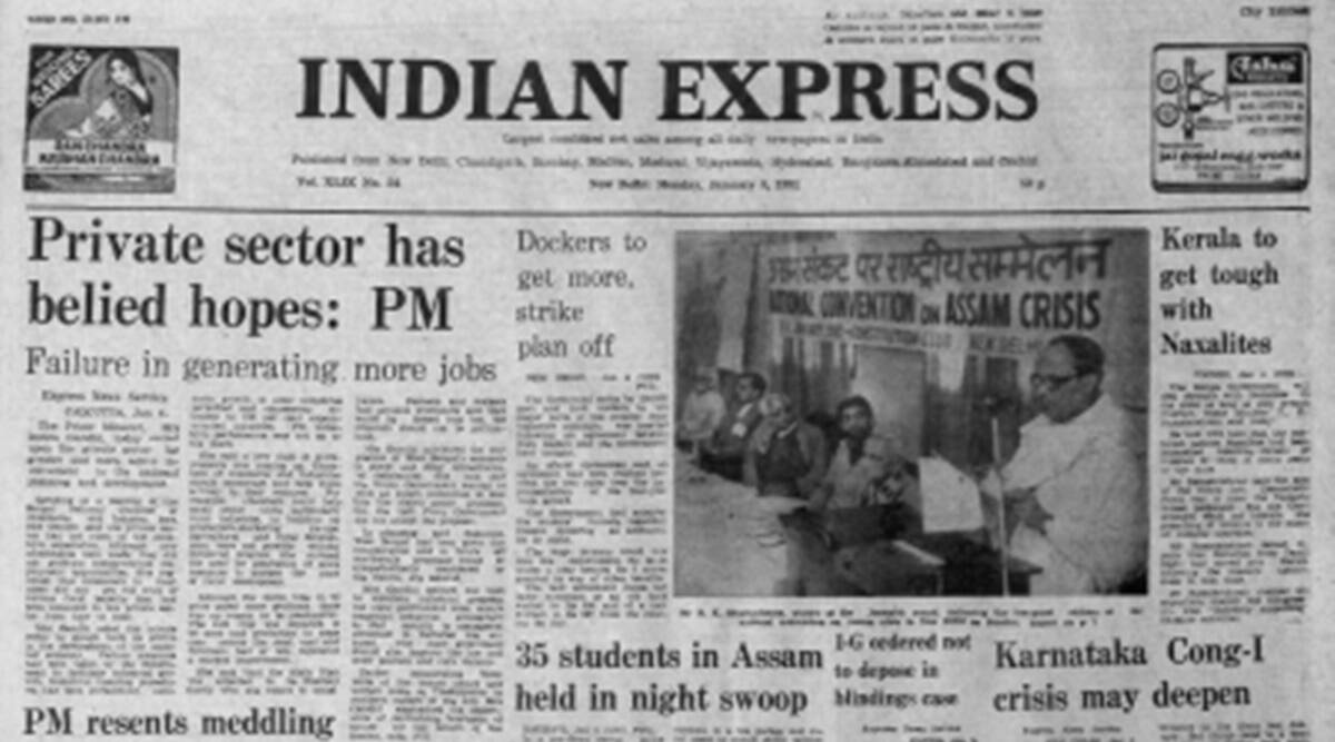 Indira Gandhi, private sector development, Indian economy, Forty Years Ago, Indian express news