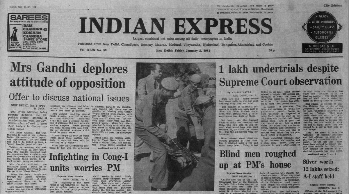Indira Gandhi, PM's offer, Forty Years Ago, Jana Sangh, Indian express editorial, Indian express news