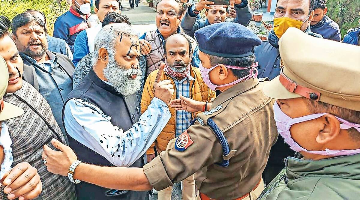 Somnath Bharti arrested, AAP MLA arrested in UP, Up arrest, Lucknow news, Indian express news