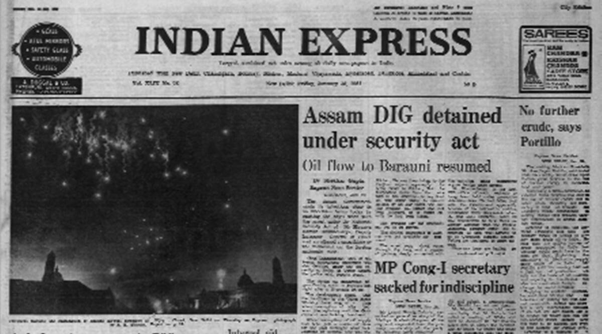 Assam DIG arrested, National Security Act, NSA, Hiranya Kumar Bhattacharya, Forty Years Ago, Indian express news