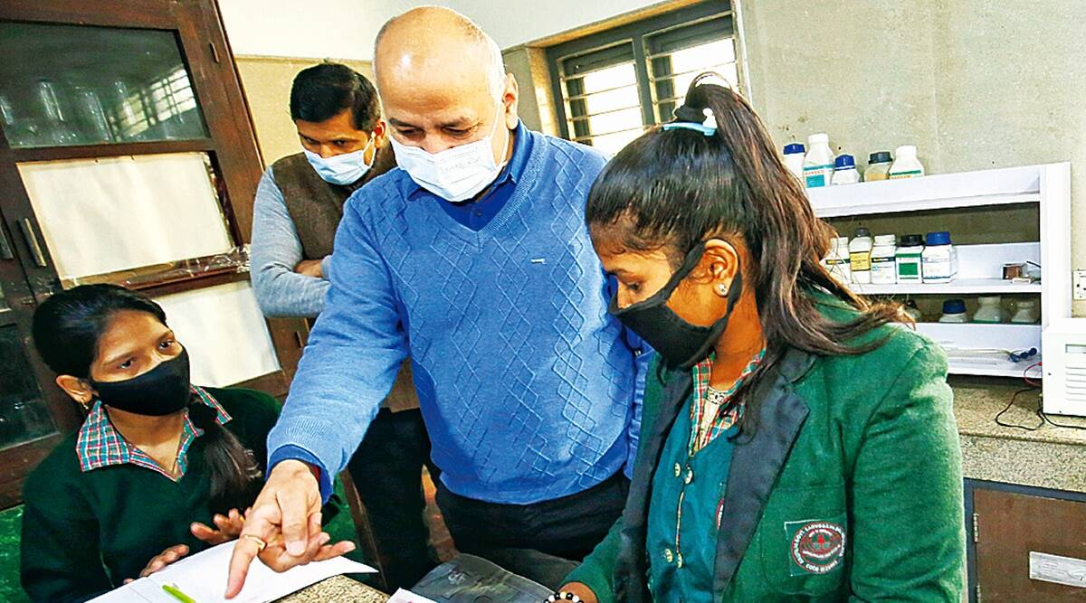 Manish Sisodia, Delhi Chief Secretary, Covid duty for teachers, Delhi schools reopen, Delhi news, Indian express news