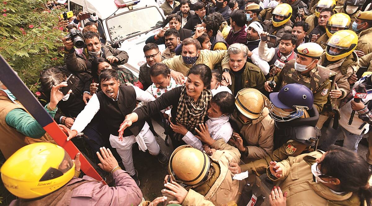 Rahul Gandhi on PM, Narendra Modi, farmers protest, Farm laws, Congress protest, Indian express news