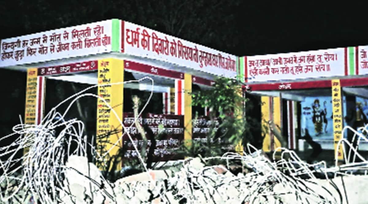 Ghaziabad crematorium roof collapses, Muradnagar crematorium, Ghaziabad death, Ghaziabad news, indian express news
