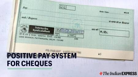 Positive Pay System for cheque payment