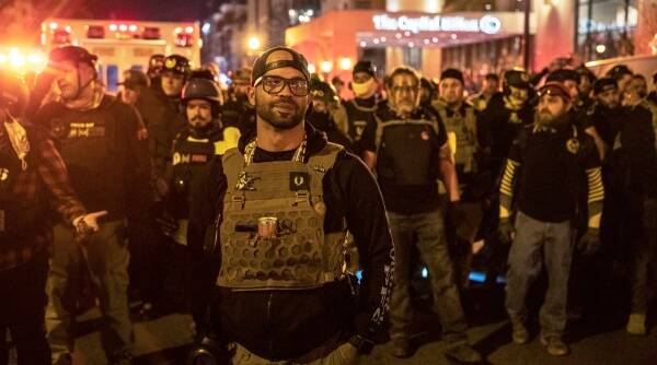 proud boys, Donald trump, US capitol violence, trump supporters, US news, world news, Indian express news