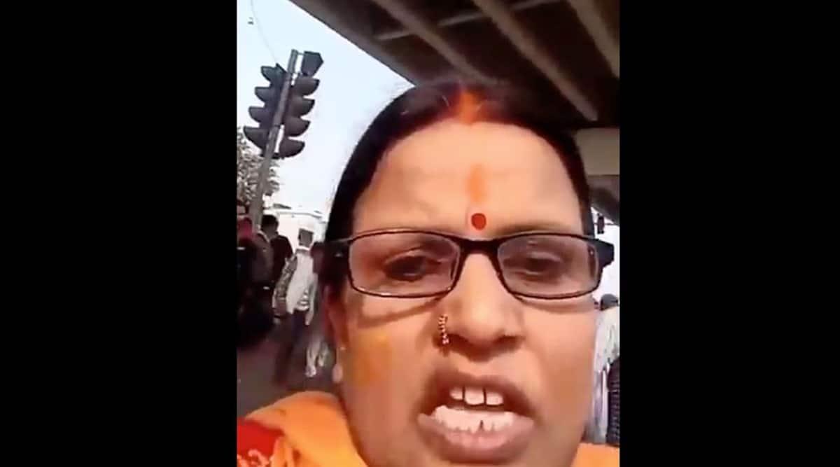 Ragini Tiwari, Ragini Tiwari video, farmers protest, Ragini Tiwari threatening video, indian express news