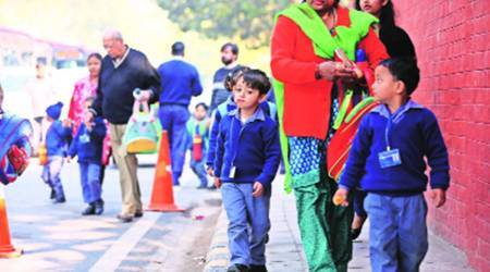 entry level admissions 2021, DOE, nursery and kindergarten admissions, admissions in COVID-19, private schools admissions, EWS, DG, CWSN, reserved seats for entry level admissions, reserved seats percentage, 2021, education news, Indian express news
