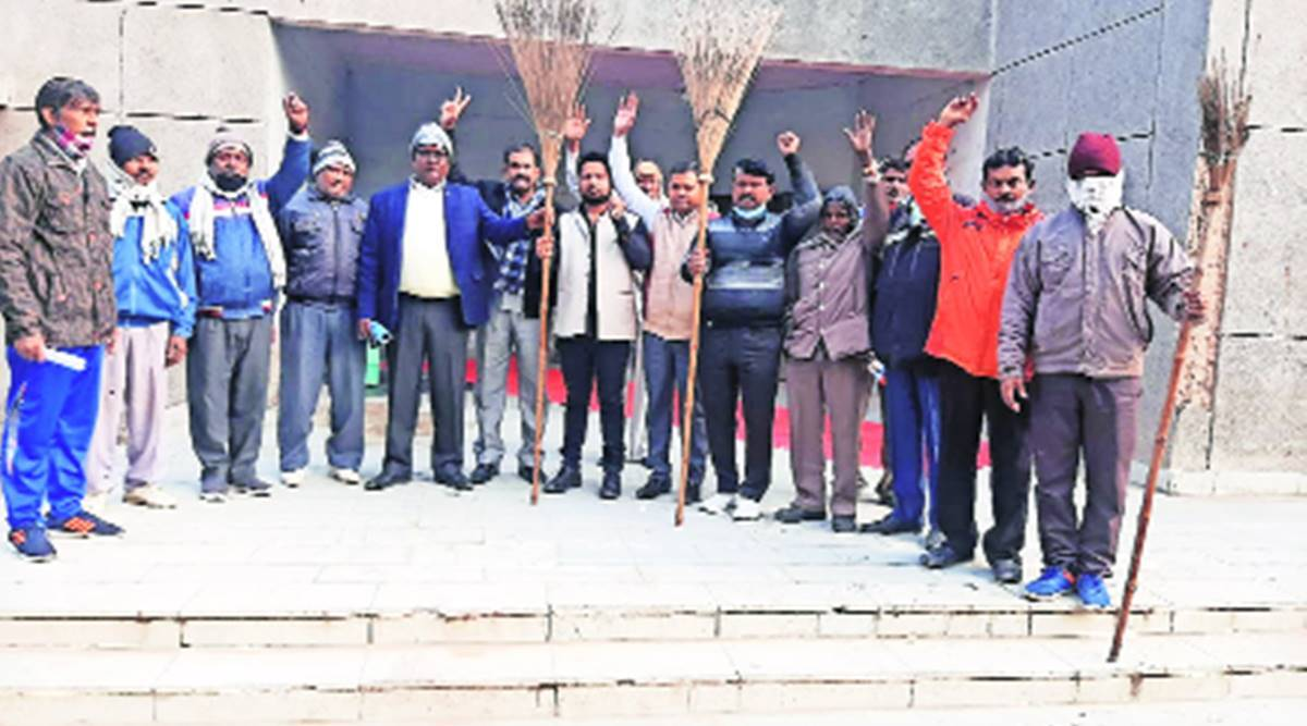 Salaries, pension delayed again, over 1 lakh workers across civic bodies go on strike