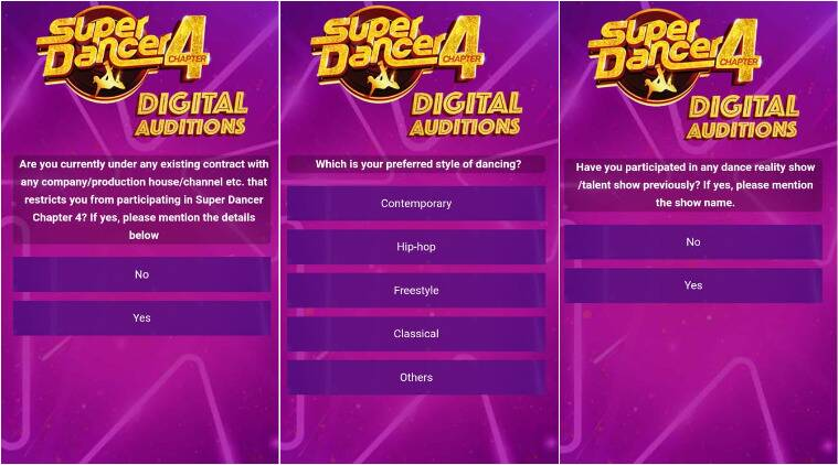 super dancer 4, digital auditions