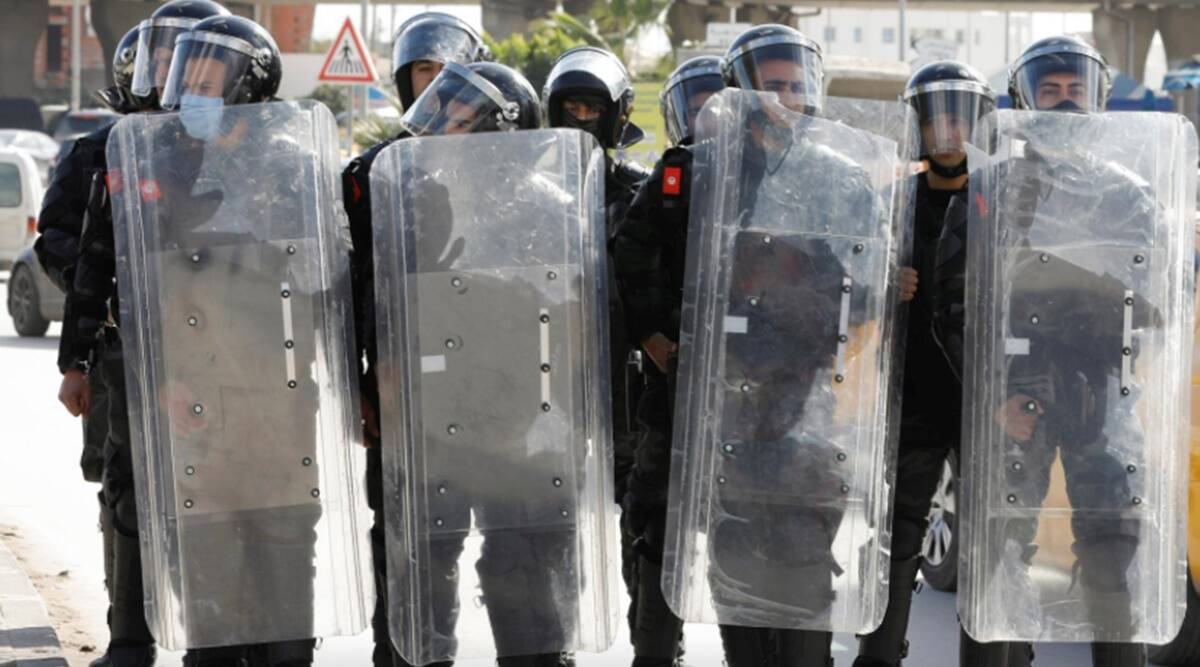 Tunisia protests, Tunisia Parliament, Tunisia conflict, Tunisia conflict, World news, indian express news