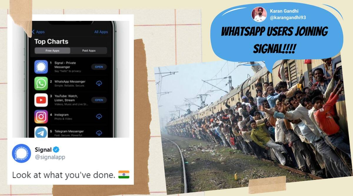 signal, signal app, signal vs whatsapp, signal app memes, whatsapp privacy policy, whatsapp alternatives, whatsapp privacy policy update, whatsapp latest privacy policy, signal user surge, viral news, tech news, Trending news, indian express news