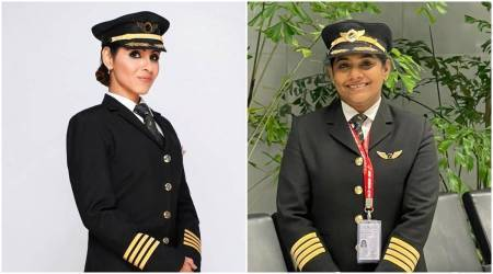 All-women cockpit crew, Air india, Hardeep Singh Puri, San Francisco-Bengaluru flight, India news, Indian express