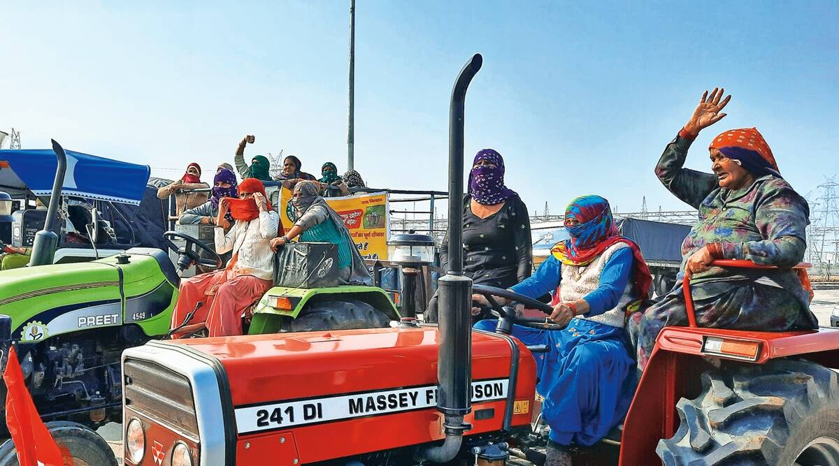 Daughters of farmers' on tractors headed for Delhi | India News,The Indian Express