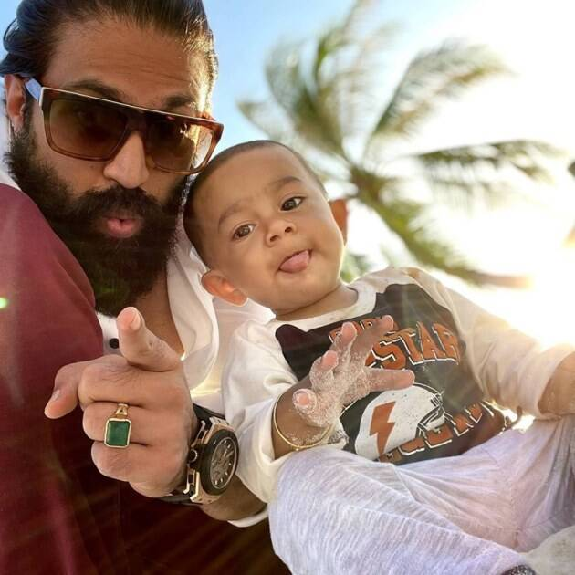 yash with son