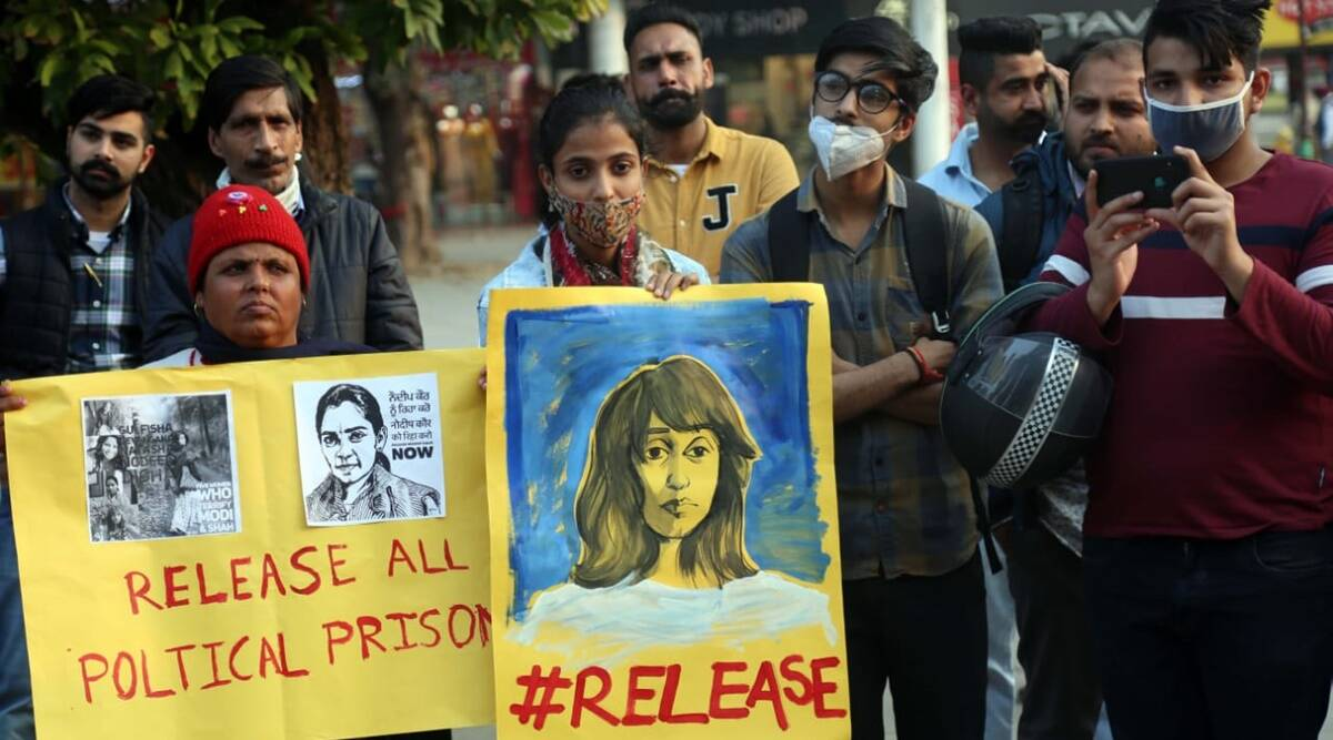 illegal arrest of Disha, Disha Ravi, Disha Ravi arrest, Disha Ravi toolkit, Disha Ravi farmers protest, Disha Ravi Greta Thunberg, All-India Students' Association, Revolutionary Youth Association, indian express