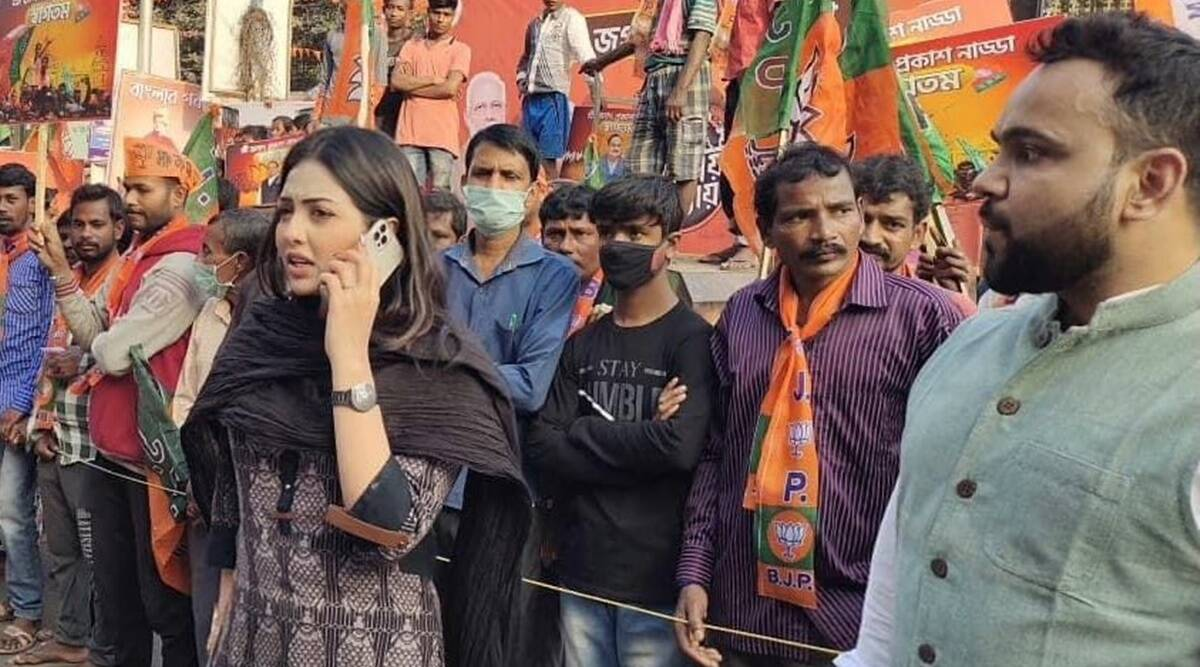 Pamela Goswami, BJP Yuva Morcha, cocaine, BJP West Bengal, TMC, BJP West Bengal Yuva Morcha, Alipore police, Kolkata Police, West Bengal drugs consumption, kolkata news, indian express