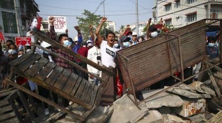 anti-coup protesters, Mandalay, Sagaing region, Myanmar protest, Myanmar demonstrators, world news, indian express world news