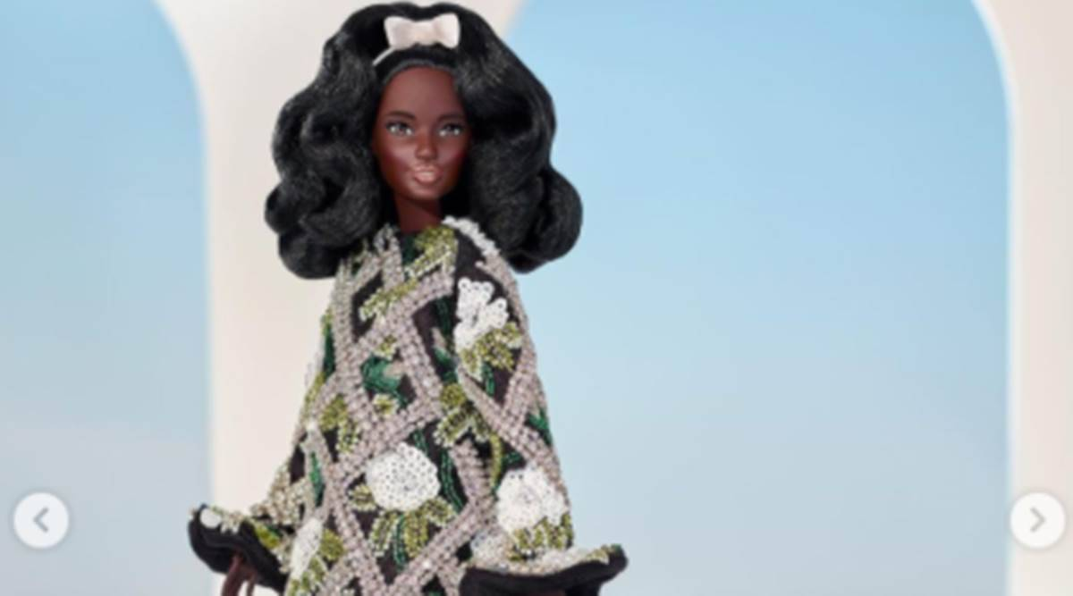 Barbie doll, Barbie fashion, Barbie style, Barbie and Fashion Month, Barbie and Richard Quinn, indian express news