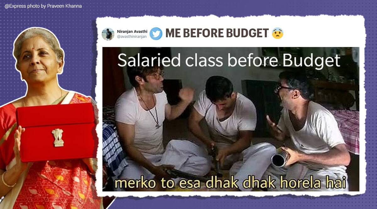 Budget, Union Budget 2021, Budget 2021, Union Budget 2021 memes, Union Budget 2021 Twitter reactions, Union Budget memes, Budget 2021, budget India, live budget 2021, budget news, India budget, India budget 2021, India budget 2021 news, budget latest news update, Finance Minister Nirmala Sitharaman, Nirmala Sitharaman Union Budget 2021, Trending news, Indian Express news
