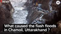 What caused the flash floods in Chamoli, Uttarakhand?