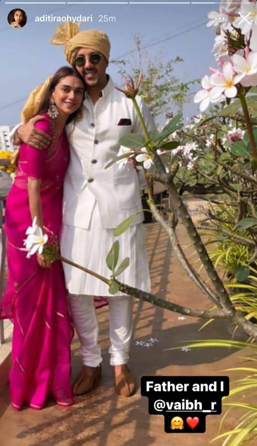 aditi rao hydari at dia mirza's wedding