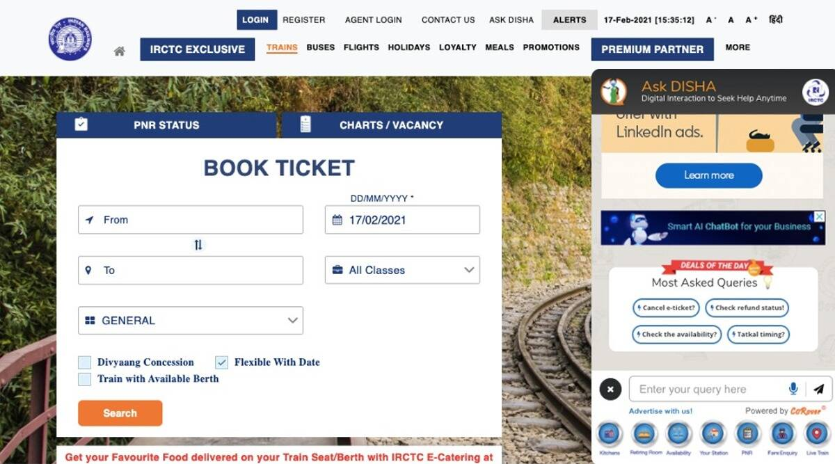 AskDisha IRCTC, AskDisha IRCTC chatbot, AskDisha Chatbot, How to check IRCTC refund query, Refund status on AskDisha, Refund Status on IRCTC.co.in, Refund Status IRCTC