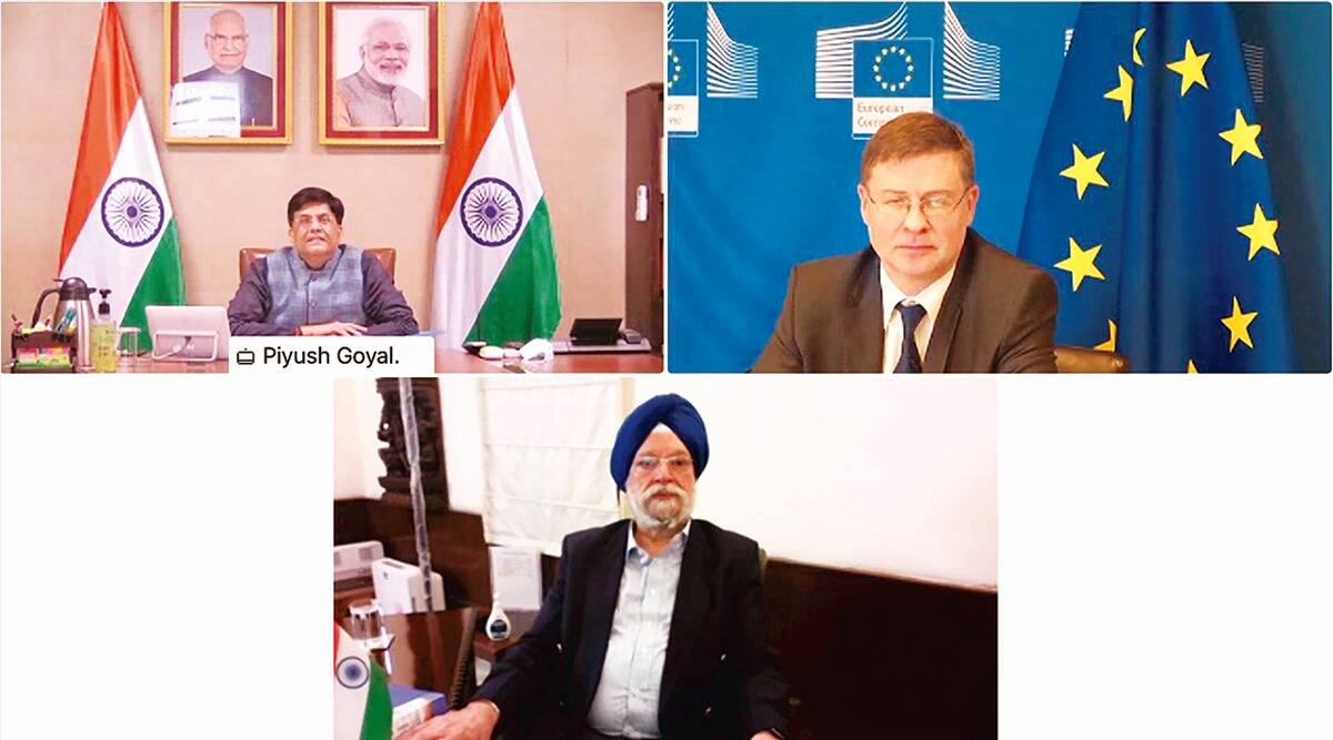 Piyush Goyal, European Union, India EU high level dialogue, india EU trade, India EU bilateral trade, Business news, indian express news