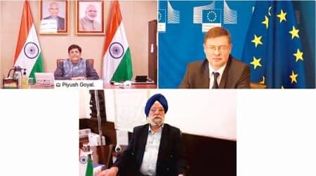 Piyush Goyal, European Union, India EU high level dialogue, india EU trade, India EU bilateral trade, Business news, indian express news