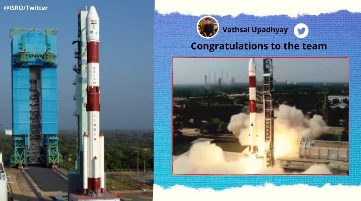 ISRO, ISRO launch, ISRO Sriharikota, ISRO launches PSLV-C51, ISRO launch twitter reaction, Amazonia-1, Trending news, Indian Express news