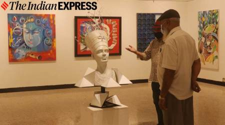 Jehangir Art Gallery, Jehangir Art Gallery in Mumbai, Mumbai's Jehangir Art Gallery, Jehangir Art Gallery photos, Jehangir Art Gallery reopening, inside Jehangir Art Gallery, indian express news