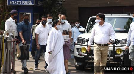 Abhishek Banerjee, Mamata Banerjee, Mamata visit nephew Abhishek Banerjee, Abhishek Banerjee CBI, Kolkata news, bengal polls, Indian express