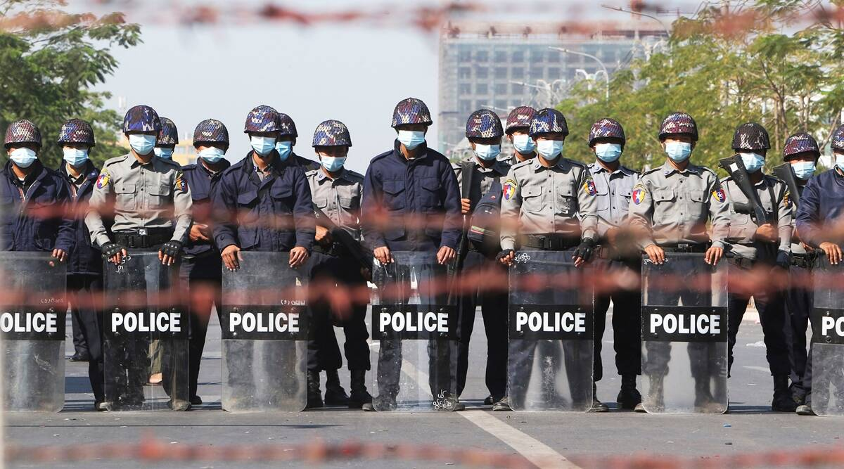Myanmar police fire rubber bullets at protesters defying ban | World  News,The Indian Express
