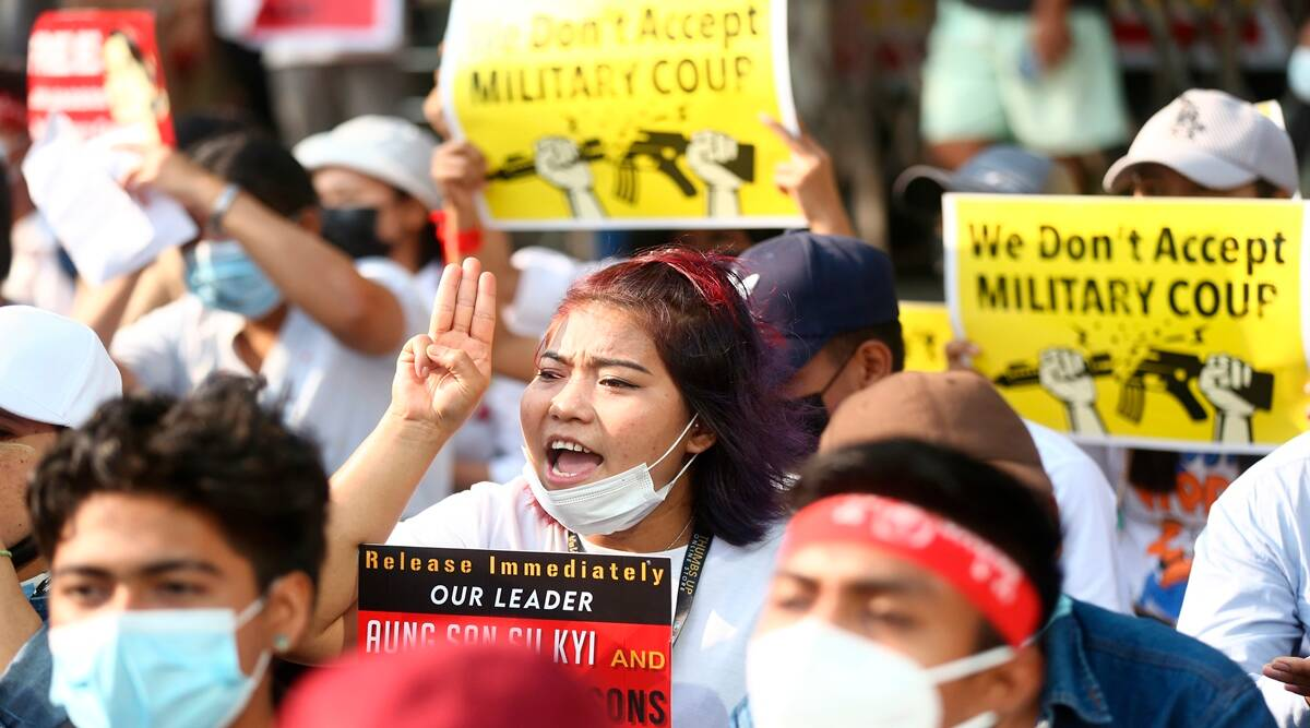 Myanmar protests, Myanmar coup