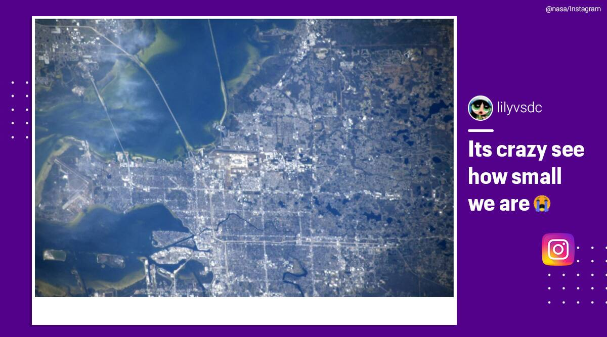 'You'll get a kick out of this': NASA shares picture of Tampa, Florida as viewed from ISS - The Indian Express