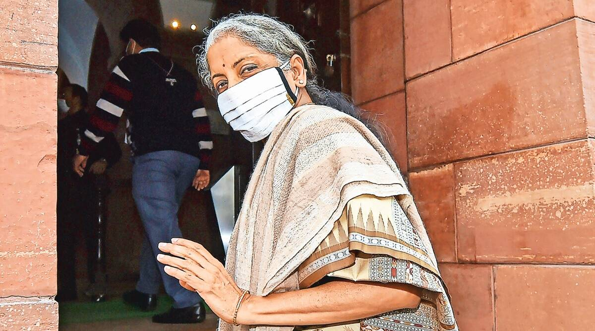 FM Nirmala Sitharaman, private sector, Budget, economy revival, Covid curve, Parliament debate, Indian express news