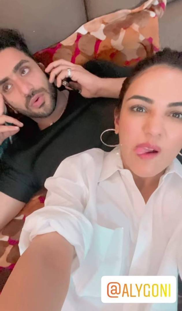 aly goni with shehnaaz gill