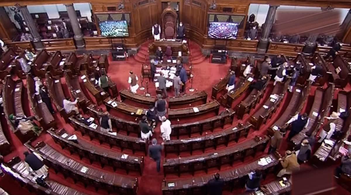 संसद, संसद आज, संसद की कार्यवाही आज, नरेंद्र सिंह तोमर, लोकसभा, राज्यसभा, हर्षवर्धन, ओम बिड़ला, किसानों का विरोध, भारतीय एक्सप्रेस