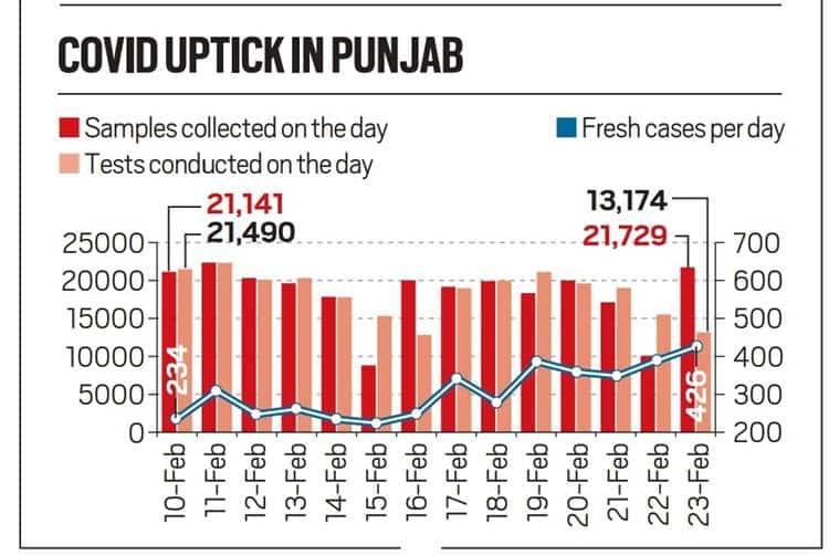 Punjab covid testing, Punjab covid cases, Punjab news, Punjab, Indian express