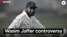 What is the controversy surrounding Wasim Jaffer's resignation