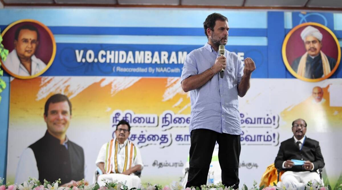 BJP buys out if there are 10-15 MLAs… only way is 2/3rd majority: Rahul  Gandhi in Tamil Nadu | Cities News,The Indian Express