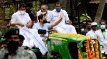 Rahul Gandhi leads tractor rally in Wayanad, says whole world can see farmers' plight