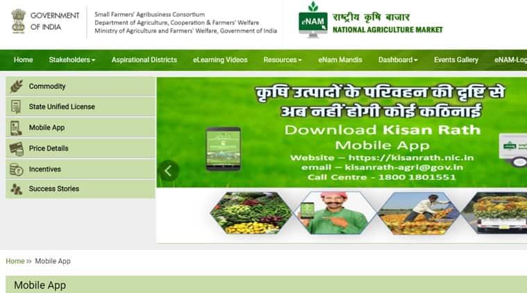 eNAM platform, Maharashtra news, Maharashtra agriculture, National Agriculture Market, Maharashtra State Agricultural Marketing Board, eNAM app, india news, indian express