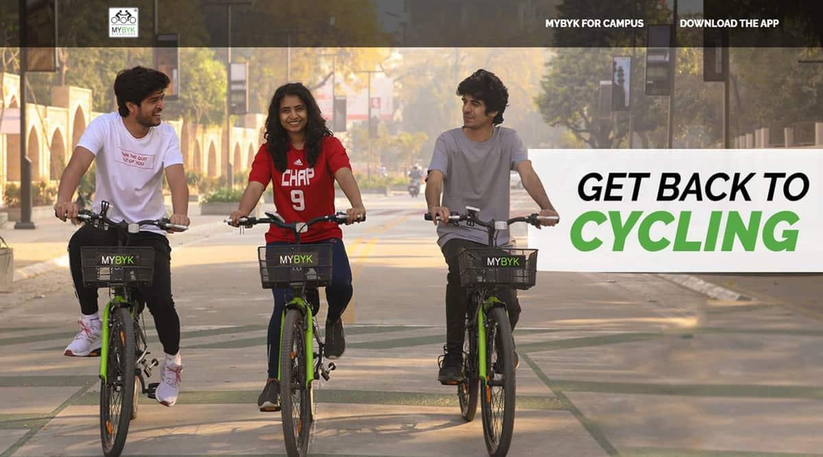 MyByk, MyByk app, How does MyByk work, Kochi Metro, Ahmedabad startups, Ahmedabad MyByk, MyByk cycles, Kochi MyByk, indian express
